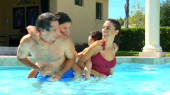 Family Pool Lifestyle - stock footage