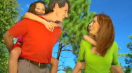 Family Fun Together Stock Footage