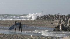 Surfer-Denmark - stock footage