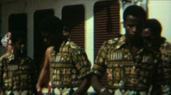 Steel Drum Band Cruise Ship 01 - Vintage 8mm Film Stock Footage
