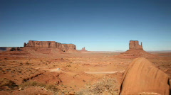 Panning Shot of Monument Valley From Mystery Valley Stock Footage