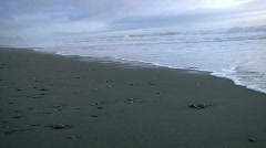 Dismal gray surf Stock Footage