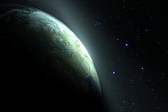 Sunrise Earth in the Galaxy, seamlessly loopable ntsc - stock footage