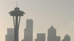 City Skyline with smog Stock Footage