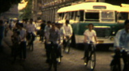 Stock Video Footage of 1970s China, street scene- Vintage Super8 Film