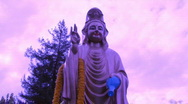Purple Buddha  Quan Yin - Time Lapse Stock Footage