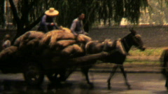 1970s China working Men - Vintage 8mm Film - stock footage