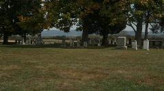 Antietam Civil war graveyard Stock Footage