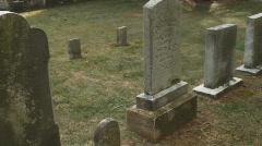 Antietam graveyard one Stock Footage
