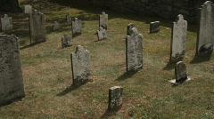 Antietam graveyard two Stock Footage