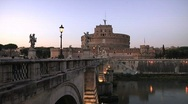 Italy, Rome, Castel Sant'Angelo Stock Footage