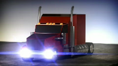 CGI Cool truck red Stock Footage