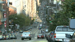 San Francisco City Traffic Time Lapse - Clip 6 Stock Footage
