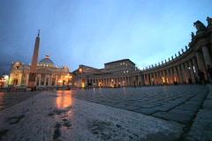 Saint Peter's Square Vatican City twilight NTSC Stock Footage