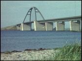 Fehmarn Sund Bridge, Baltic Sea (vintage 8 mm amateur film) Stock Footage