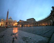 Saint Peter's Square Vatican City twilight PAL Stock Footage