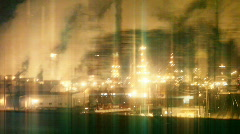 CGI background Pollution - stock footage