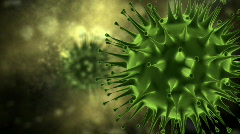 Flu virus attack - closeup Stock Footage
