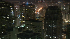 Above a Big City - Time Lapse - San Francisco - Clip 5 Stock Footage