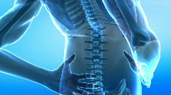 Human spine anatomy x-ray view Stock Footage