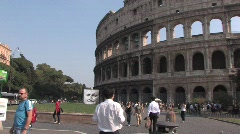 Colosseum and people - stock footage