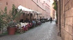 Restaurant in Rome Stock Footage