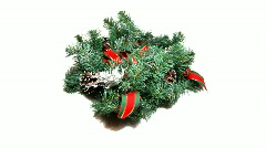 Christmas wreath Stock Footage