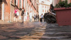 Roman street Stock Footage