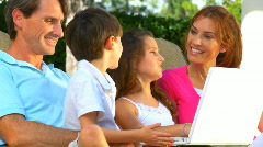Family Using Laptop Stock Footage