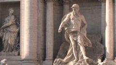 trevi fountain - stock footage
