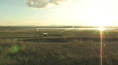 Sunset in Montana - stock footage