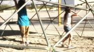 Pre-teens on playground - 2 Stock Footage
