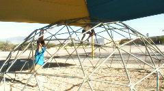 Pre-teens on playground - 3 Stock Footage