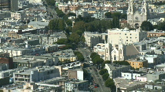 Above a Big City - Time Lapse - Day - San Francisco - Clip 5 Stock Footage