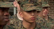 Stock Video Footage of New Marines in Formation