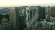 Shadows moving acress buildings - sunrise / sunset timelapse Stock Footage