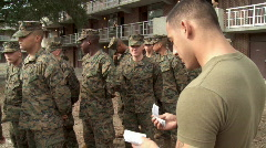 Marines Mail Call Stock Footage
