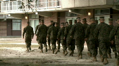Marines Marching in Formation Stock Footage
