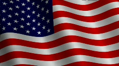 American Flag (loop) Stock Footage