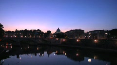 Italy, Rome, The Papal Basilica of Saint Peter Stock Footage