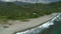 Aerial (stunning!) along tropical coastline  - stock footage