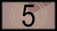 FILM LEADER VIDEO COUNTDOWN Stock Footage