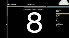 Digital video countdown Stock Footage
