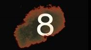 Stock Video Footage of Fireball Countdown