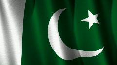 Pakistan Flag Loop Stock Footage