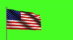 American Flag (loop) - stock footage