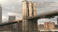 Brooklyn Bridge passing Stock Footage