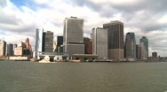 Stock Video Footage of approaching Manhattan
