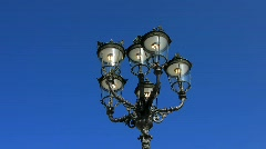 Nostalgic street lamp in Baden-Baden - stock footage