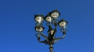 Nostalgic street lamp in Baden-Baden Stock Footage